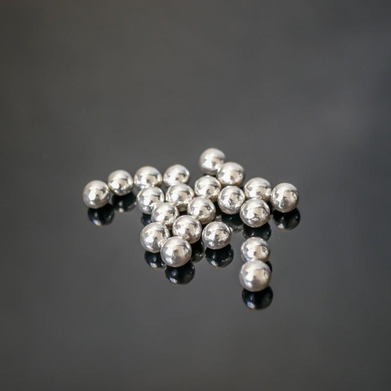 Perles au sucre argentées