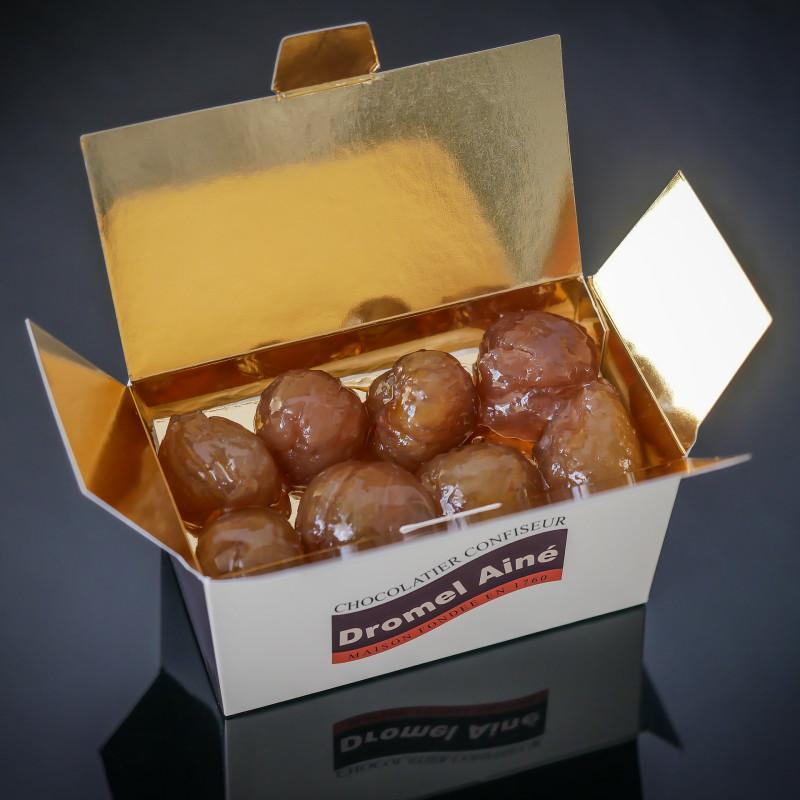 Boîte de 250 g de marrons...